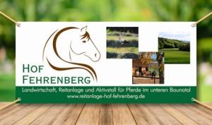 Werbebanner Hof Fehrenberg